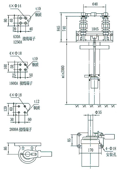 说明操动机构上配用的电磁锁选用何种电源及电压等级.